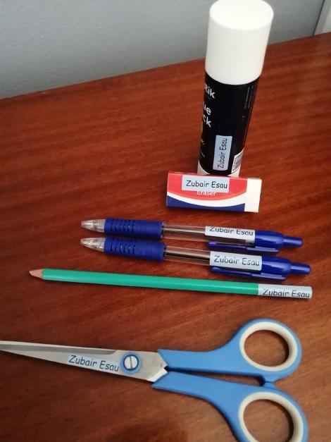 Pencil/small item labels